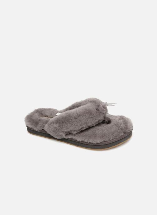 Pantofole UGG Fluff Flip Flop III Grigio vedi dettaglio/paio