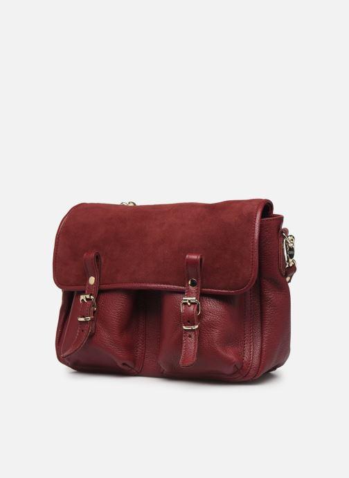 Handbags Craie Mini Maths Burgundy model view