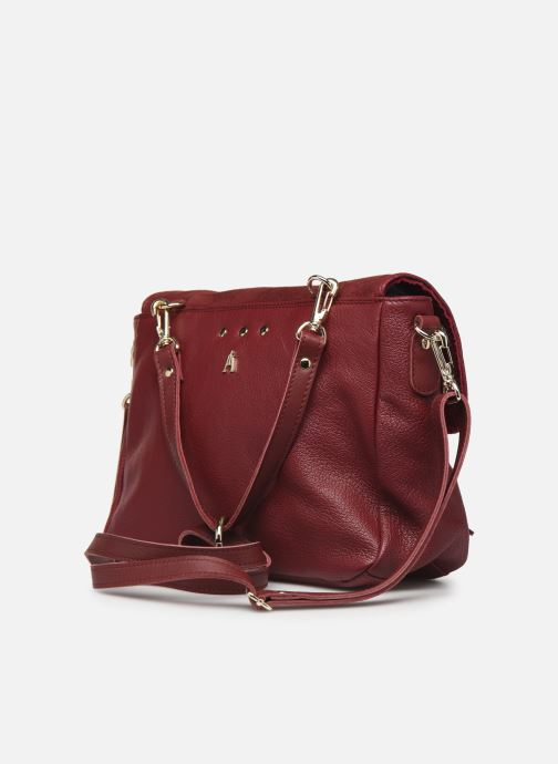 Handbags Craie Mini Maths Burgundy view from the right