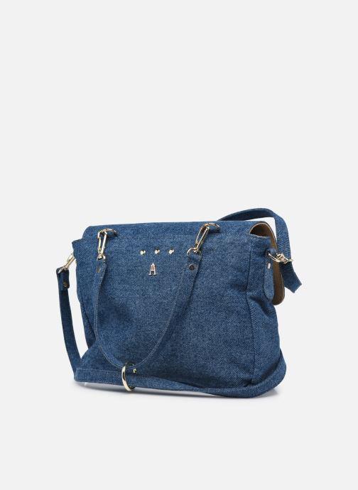 Handtaschen Craie Mini Maths blau ansicht von rechts