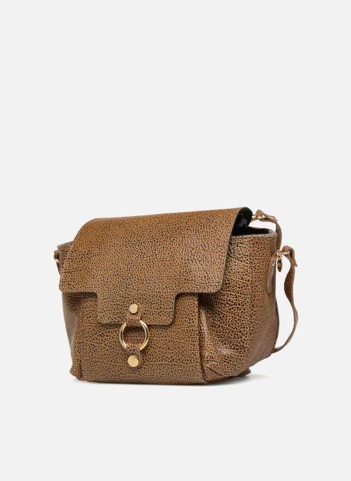 Handbags Craie Video Brown model view