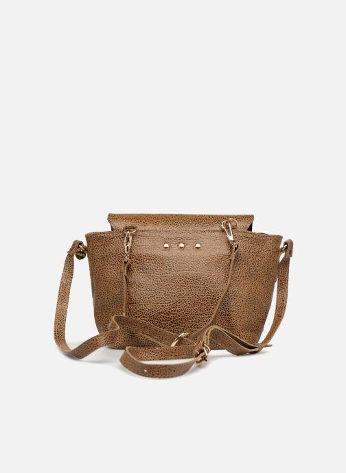Handbags Craie Video Brown front view