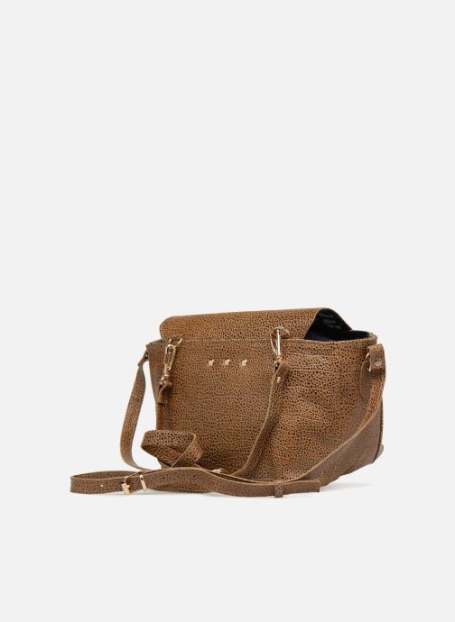 Handbags Craie Video Brown view from the right