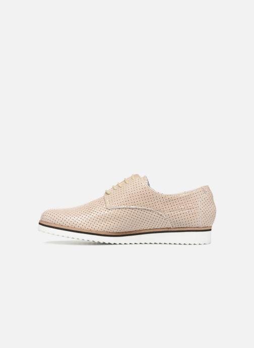 Chaussures à lacets Elizabeth Stuart ARMY 328 Beige vue face