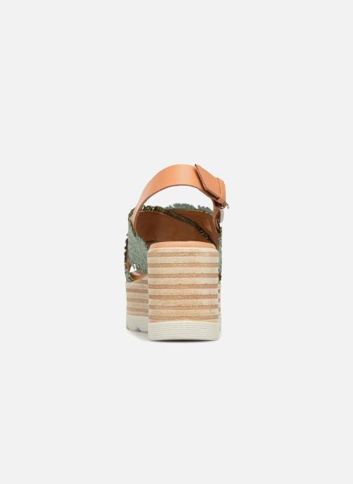 Sandali e scarpe aperte Elizabeth Stuart Denver 805 Verde immagine destra