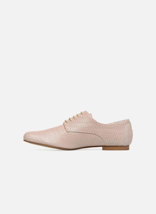 Zapatos con cordones Elizabeth Stuart Issio 326 Beige vista de frente