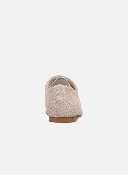 Zapatos con cordones Elizabeth Stuart Issio 326 Beige vista lateral derecha