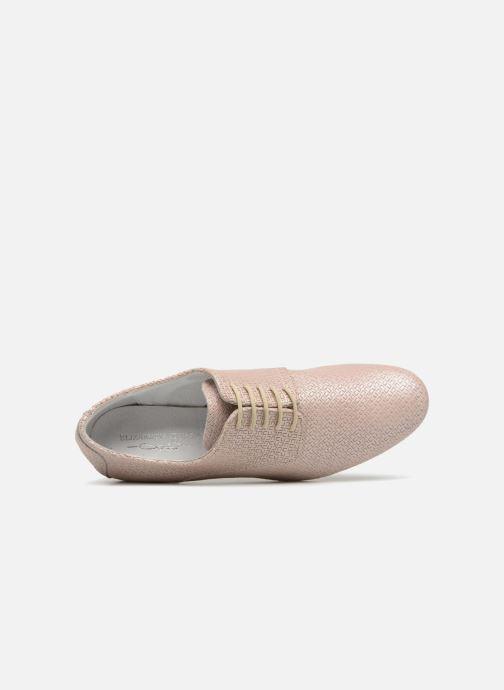 Zapatos con cordones Elizabeth Stuart Issio 326 Beige vista lateral izquierda