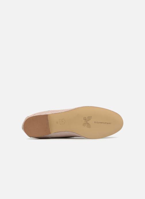 Zapatos con cordones Elizabeth Stuart Issio 326 Beige vista de arriba