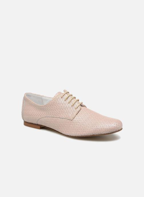 Zapatos con cordones Elizabeth Stuart Issio 326 Beige vista de detalle / par