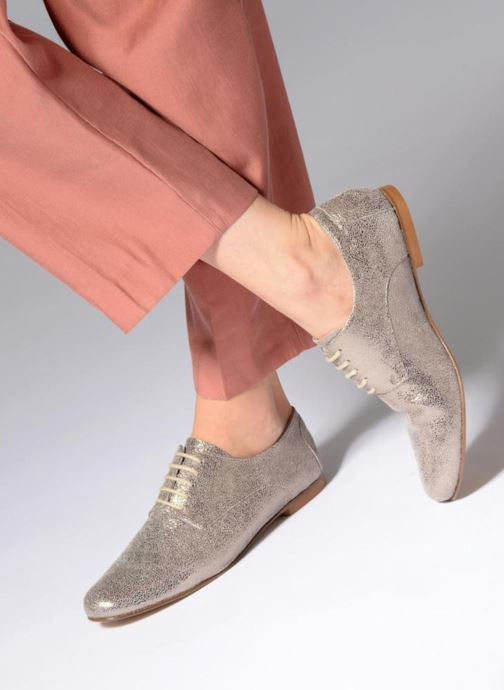 Lace-up shoes Elizabeth Stuart ISSIO 415 Silver view from underneath / model view
