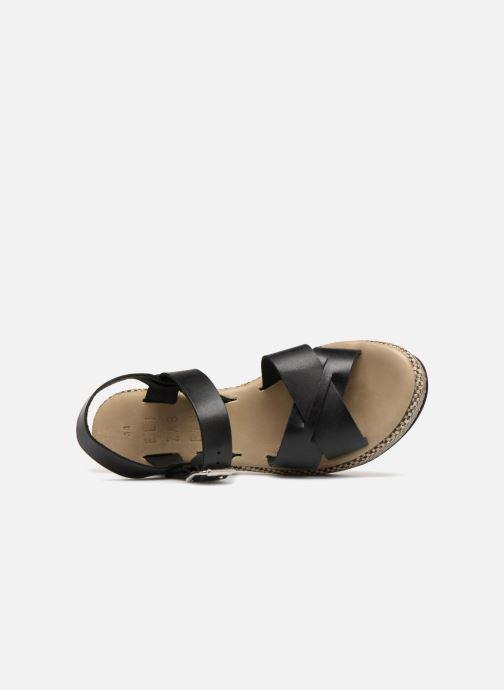 vue 466 Sandales Stuart gauche pieds Noir nu Elizabeth et TOKKO TqrT8wY