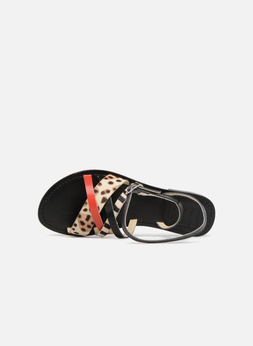 Sandales et nu-pieds Elizabeth Stuart HAG 841 Noir vue gauche