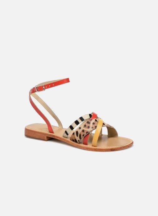 Sandales et nu-pieds Elizabeth Stuart HAG 841 Rouge vue détail/paire