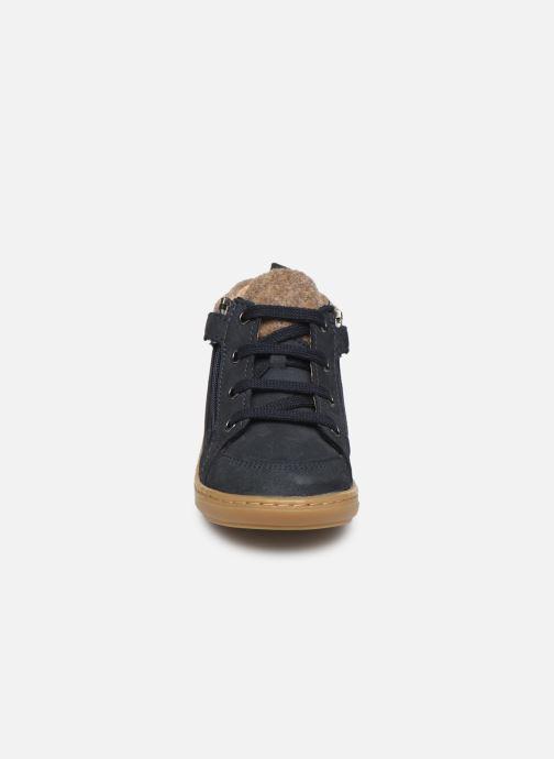 Ankle boots Shoo Pom Bouba Zip Wool Blue model view