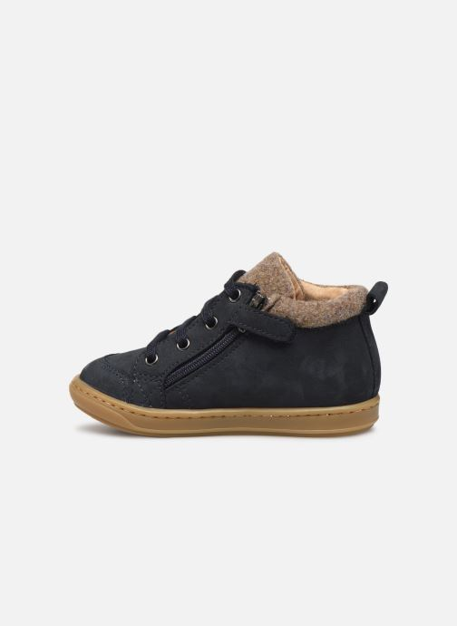 Bottines et boots Shoo Pom Bouba Zip Wool Bleu vue face