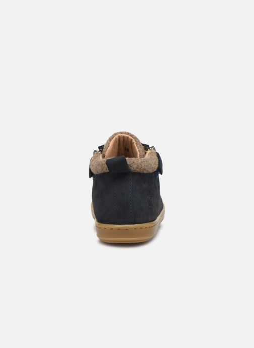 Ankle boots Shoo Pom Bouba Zip Wool Blue view from the right
