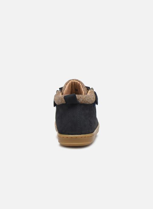 Bottines et boots Shoo Pom Bouba Zip Wool Bleu vue droite