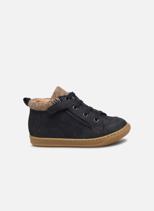 Bottines et boots Shoo Pom Bouba Zip Wool Bleu vue derrière