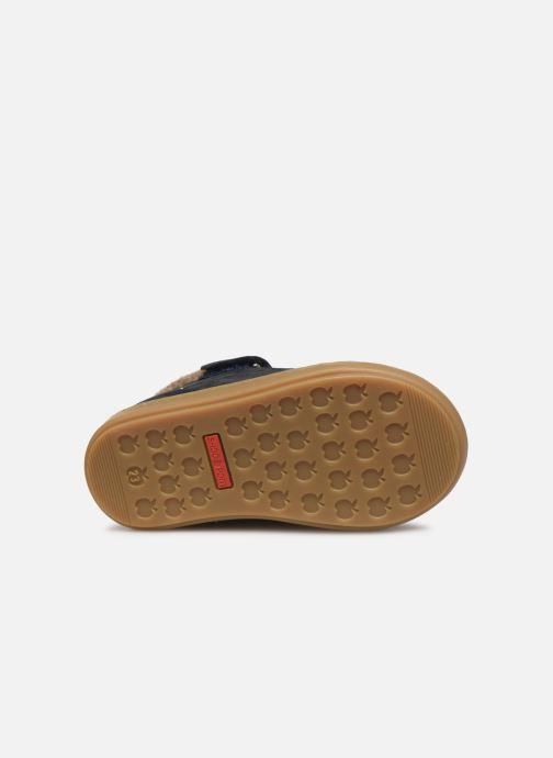 Bottines et boots Shoo Pom Bouba Zip Wool Bleu vue haut