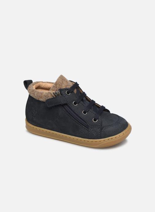 Bottines et boots Shoo Pom Bouba Zip Wool Bleu vue détail/paire