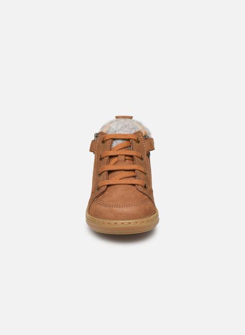 Bottines et boots Shoo Pom Bouba Zip Wool Marron vue portées chaussures