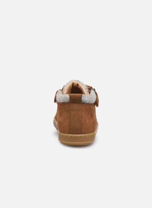Bottines et boots Shoo Pom Bouba Zip Wool Marron vue droite