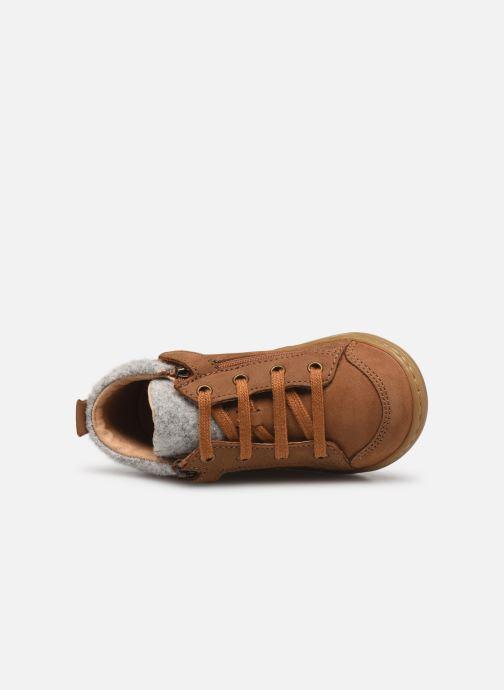 Bottines et boots Shoo Pom Bouba Zip Wool Marron vue gauche