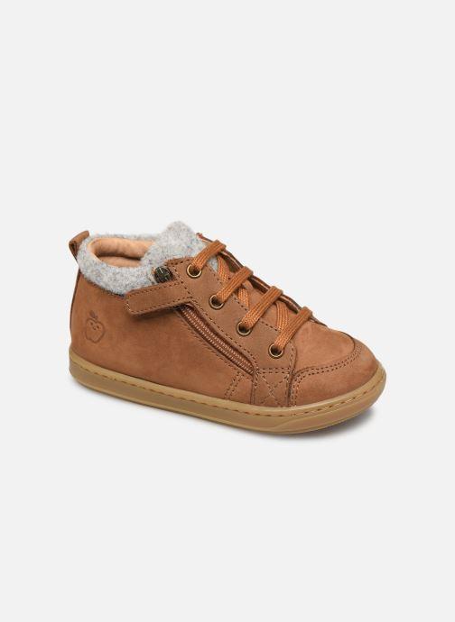 Bottines et boots Shoo Pom Bouba Zip Wool Marron vue détail/paire