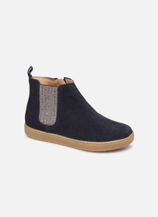 Ankelstøvler Shoo Pom Play Shine Elast Blå detaljeret billede af skoene