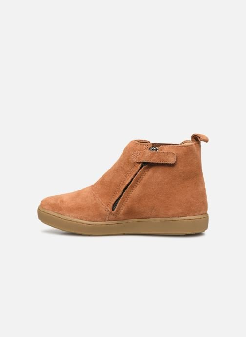 Ankle boots Shoo Pom Play Shine Elast Brown front view