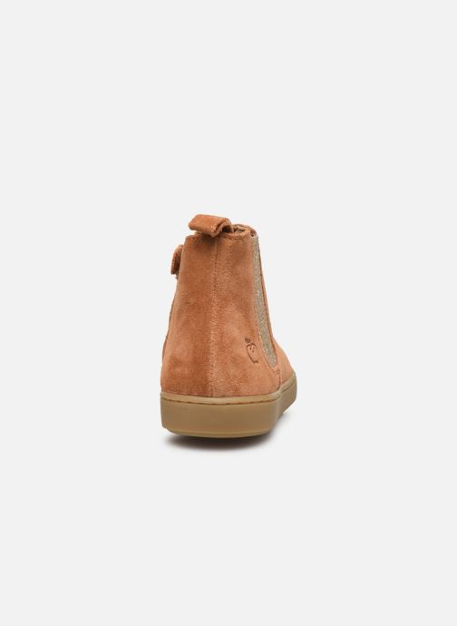 Ankle boots Shoo Pom Play Shine Elast Brown view from the right