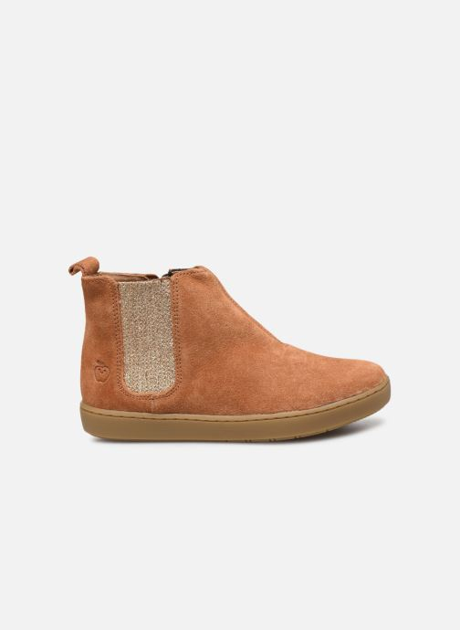 Ankle boots Shoo Pom Play Shine Elast Brown back view