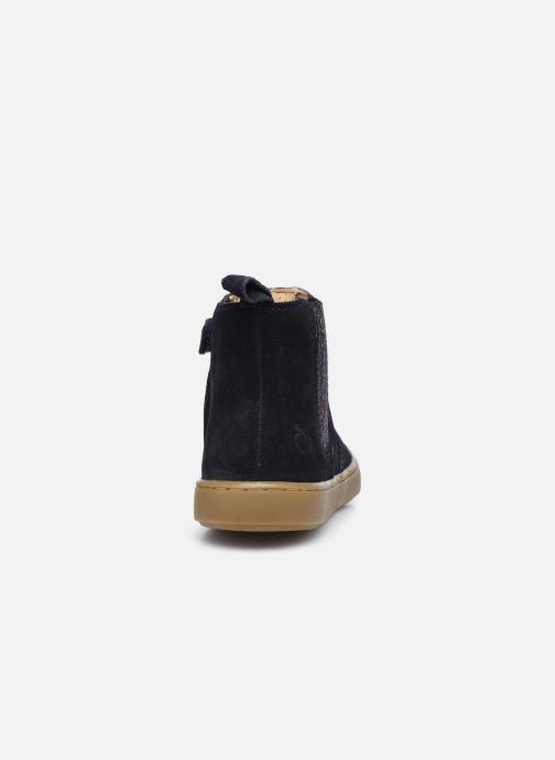 Bottines et boots Shoo Pom Play Shine Elast Bleu vue droite
