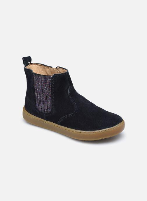Bottines et boots Shoo Pom Play Shine Elast Bleu vue détail/paire