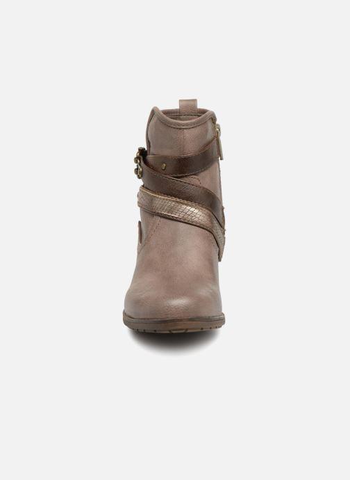 Bottines et boots Mustang shoes Tina Marron vue portées chaussures