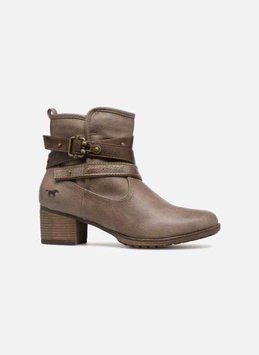 Bottines et boots Mustang shoes Tina Marron vue derrière