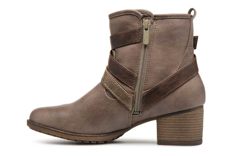 Bottines et boots Mustang shoes Tina Marron vue face