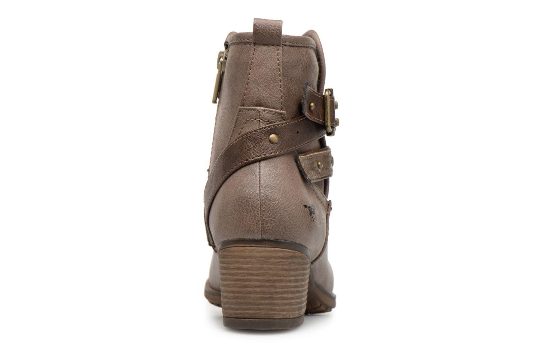 Bottines et boots Mustang shoes Tina Marron vue droite