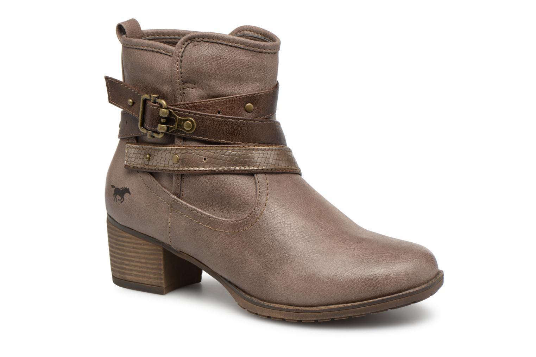 Bottines et boots Mustang shoes Tina Marron vue détail/paire