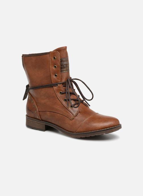 Boots en enkellaarsjes Mustang shoes Candie Bruin detail