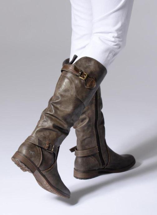 Bottes Mustang shoes Morgana Gris vue bas / vue portée sac