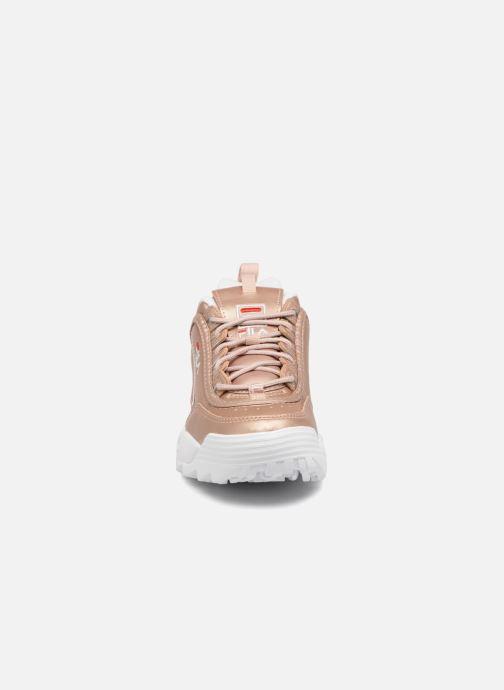 Baskets FILA Disruptor Metal Or et bronze vue portées chaussures