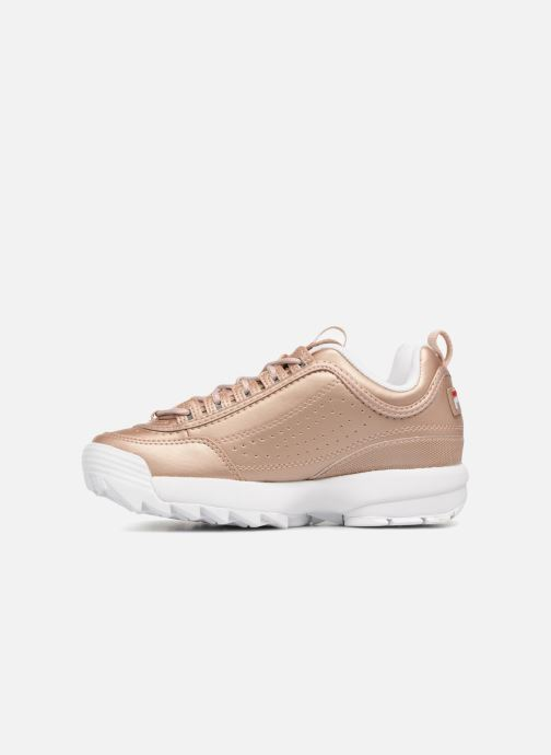 Baskets FILA Disruptor Metal Or et bronze vue face