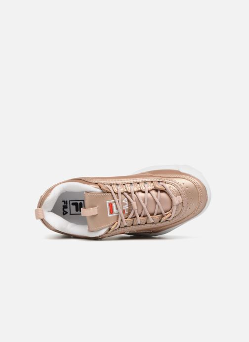 Baskets FILA Disruptor Metal Or et bronze vue gauche