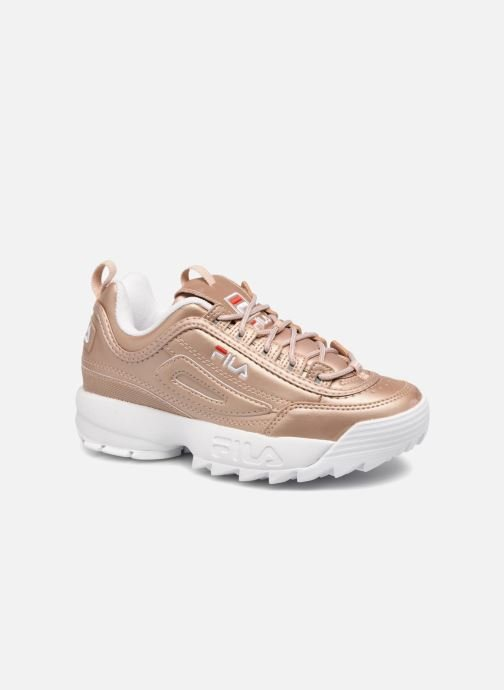Baskets FILA Disruptor Metal Or et bronze vue détail/paire