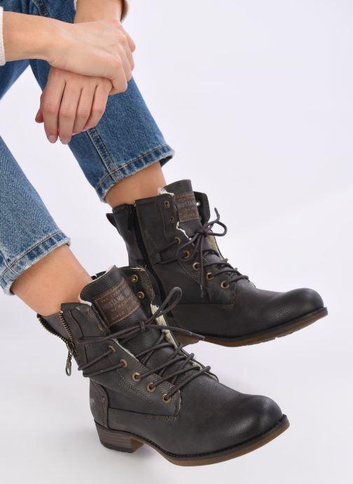 Bottines et boots Mustang shoes Bolen Gris vue bas / vue portée sac