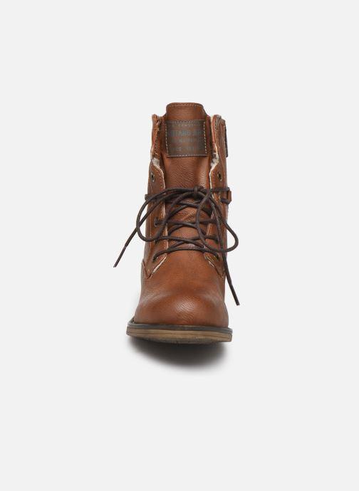 Bottines et boots Mustang shoes Bolen Marron vue portées chaussures