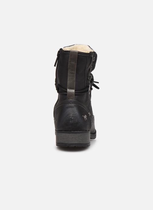 Bottines et boots Mustang shoes Bolen Noir vue droite