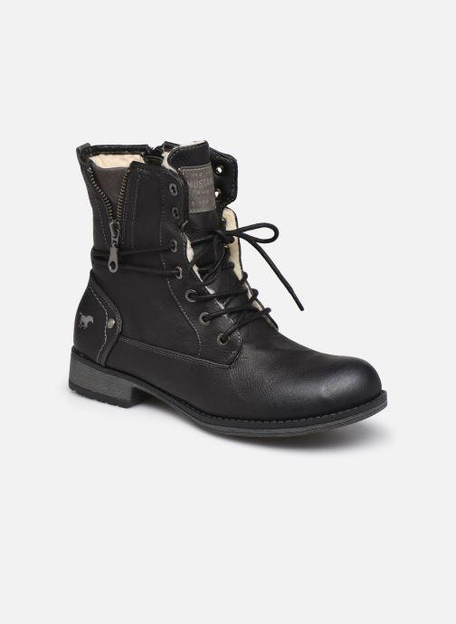 Bottines et boots Mustang shoes Bolen Noir vue détail/paire